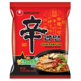 Amazon.com : NongShim Shin Ramyun Noodle Soup, Gourmet Spicy, 4.2 Ounce (Pack of 20) : Ramen Noodles : Grocery & Gourmet Food