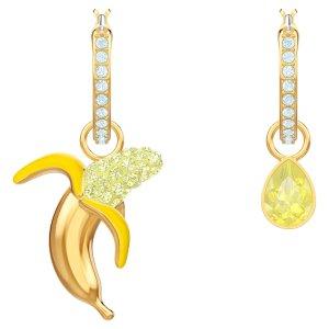 SwarovskiNo Regrets Banana Pierced Earrings, Multi-colored, Gold-tone plated by SWAROVSKI