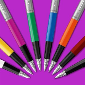 低至€7.4 收明星钢笔Parker Jotter 经典钢笔特卖 配M号笔尖 多色可选 收明星同款