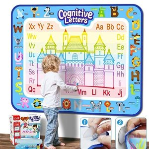 Jasonwell Aqua Magic Doodle Mat 40 X 32 Inches Extra Large Water Drawing Doodling Mat