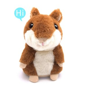 $8.49(Was $17.99)Talking Hamster, Repeats What You Say Plush Animal Toy Electronic Hamster Mouse