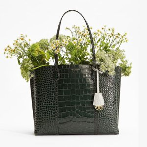Tory BurchPerry Embossed Small Triple-Compartment Tote BagSession is about to end