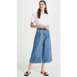 Pleat Front Jeans