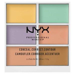NYX Professional Makeup 6色遮瑕盘