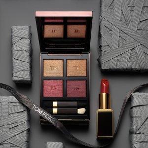 任意单送白管口红中样Tom Ford 彩妆品热卖 入四色眼影、钻石唇膏 优雅低调的奢华
