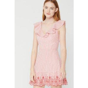 BCBGenerationBuy 1, Get 1 FreeEmbroidered Cotton Seersucker Dress