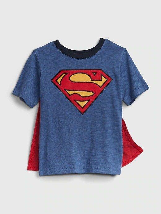 带斗篷超人图案 小童T恤