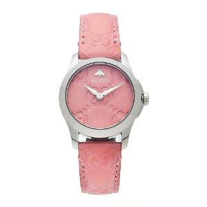 Gucci粉色手表