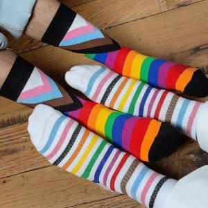 折扣区6折+首单额外9折HappySocks夏日促销 景甜彭于晏都爱穿的网红袜子
