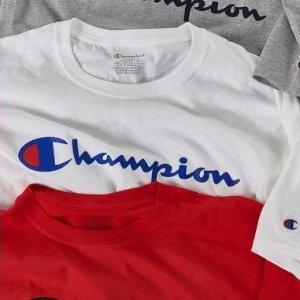 $16.14(原价$35.76)Champion 男士logo白色短袖T恤好价收