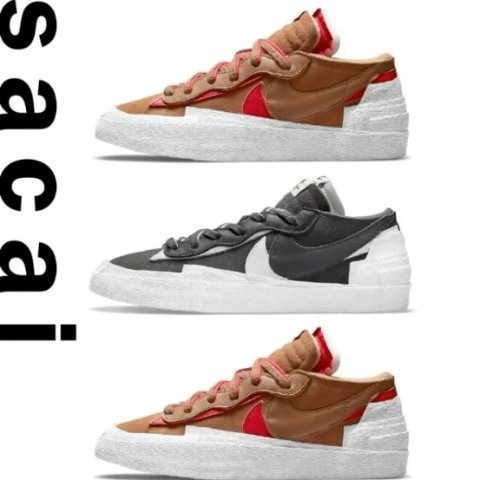 7月31日发售 定价€119.99上新:Nike Blazer Low x Sacai联名 两款全新配色 官网已上架