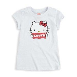 Levi'sLittle Girls 4-6x Levi's® x Hello Kitty Logo Tee Shirt