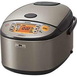 Amazon.com: Zojirushi NP-HCC18XH Induction Heating System Rice Cooker and Warmer, 1.8 L, Stainless Dark Gray: Kitchen & Dining