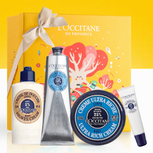 $109(价值$132)+ 获赠2件套L'Occitane 经典乳木果套装 含4件明星产品
