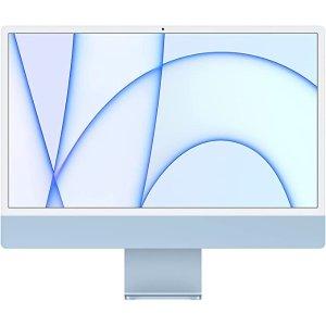 AppleNew Apple iMac (24-inch, Apple M1 chip with 8‑core CPU and 7‑core GPU, 8GB RAM, 256GB) - Blue