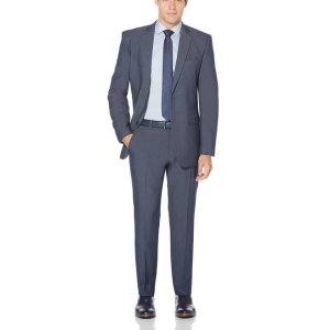 Perry Ellis2 Piece Medium Blue Heather Suit