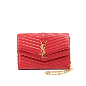 0228fdd6baeab Saint LaurentUp to  300GC or double  600GCSulpice Double Flap Crossbody  Wallet on a Chain