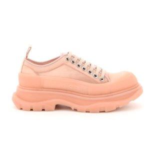 $521(原价$613)Alexander McQueen 超美蜜桃粉色厚底鞋