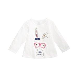 01d216047aff First ImpressionsBaby Girls Graphic-Print Cotton T-Shirt