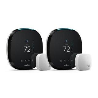 $299 包邮ecobee 4 智能无线恒温器 + 温度感应器 2只装