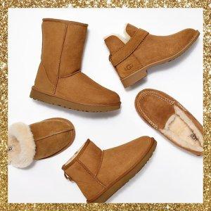 低至6折 蝴蝶结款也有UGG 女士雪地靴专场,保暖又可爱