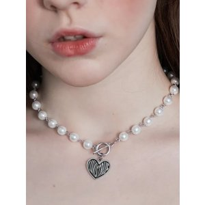 珍珠爱心项链