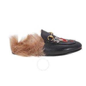 毛拖乐福鞋