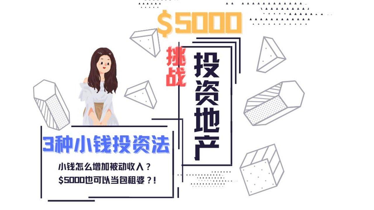 3种小钱投资法💰挑战$5000投资地产