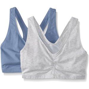 定价$15.99 单件仅$8白菜价:Hanes X-Temp ComfortFlex 女士运动内衣 2件装