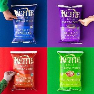 $1.79起(原价$4.29) 凑单好物 追剧必备Kettle Chips 薯片 多种口味 一口香脆 如此美味