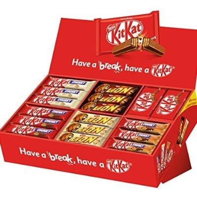 内含6种不同口味的68条巧克力棒