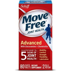 Move FreeTriple Strength Glucosamine Chondroitin and Hyaluronic Acid Joint Supplement, 80 Count