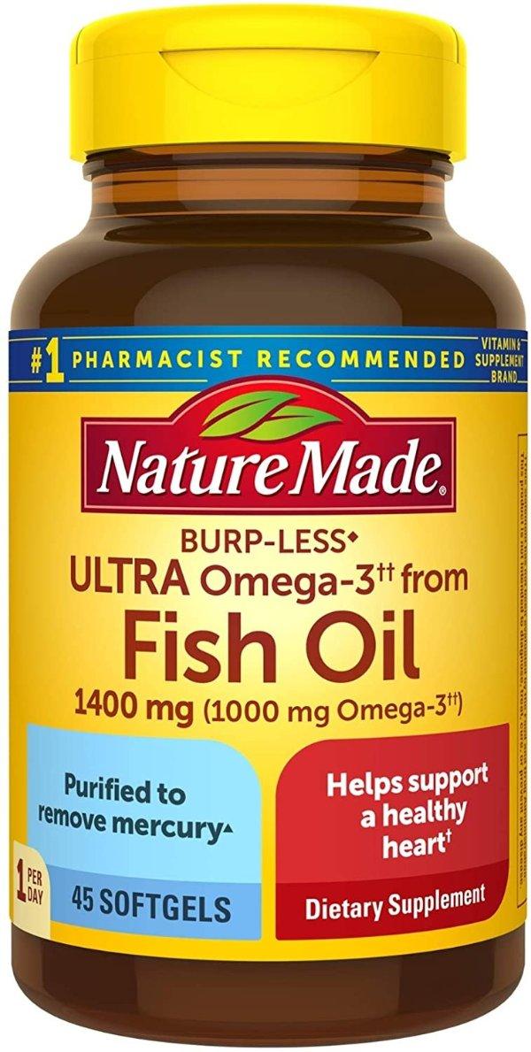 Omega-3鱼油 防打嗝版 1400mg 45粒