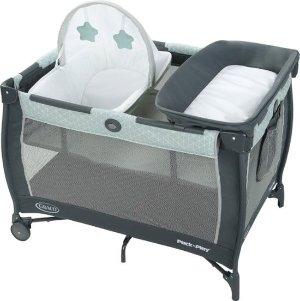 $69.99Graco Pack 'N Play 婴儿游戏床 带尿布台和摇摇椅