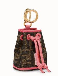 Fendi Roma Amor fabric charm - NANO MON TRESOR CHARM | Fendi | Fendi Online Store