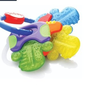 Amazon.com : Nuby Ice Gel Teether Keys : Baby Shape And Color Recognition Toys : Baby