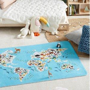 80 x 120 cm世界地图儿童玩乐垫