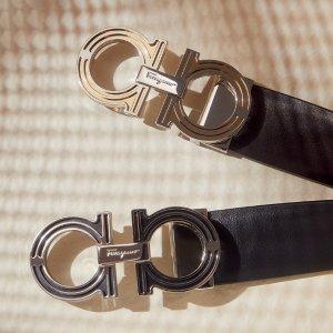 定价优势+7折 logo腰带$206折扣升级:菲拉格慕专场 女士蝴蝶结平底鞋、男士乐福鞋$343