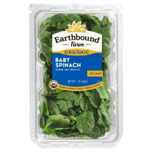 Earthbound Farm Organic Baby Spinach - 1lb Package : Target