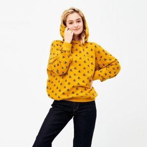 Uniqlo姜黄色米老鼠帽衫