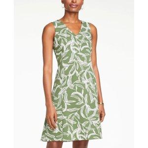 Ann TaylorFloral V-Neck Flare Dress