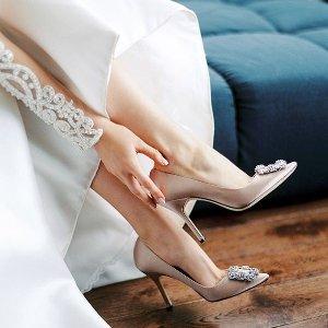 满$400减$100 收超显白宝石蓝Manolo Blahnik 美鞋热卖 经典钻扣多色码全