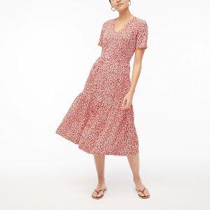 J.CrewV-neck tiered knit midi dress