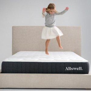 $256收Queen床垫+2个标准枕独家:Allswell 全新10英寸创新弹簧记忆棉床垫+枕头组合热卖