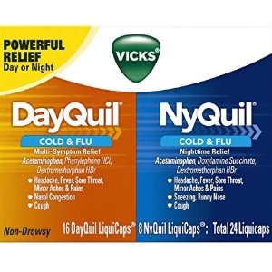Vicks DayQuil & NyQuil Cough, Cold & Flu Relief Combo