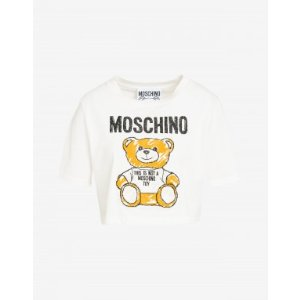0085b894b MoschinoCropped T-shirt Brushstroke Teddy Bear - SS19 Ready-to-Bear - SS19