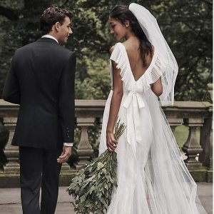 低至2折David's Bridal 婚纱系列大促 $59起收刺绣连衣裙