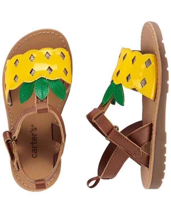 儿童菠萝凉鞋
