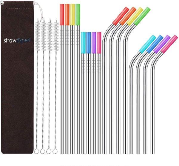 StrawExpert Set 不锈钢吸管 16件套