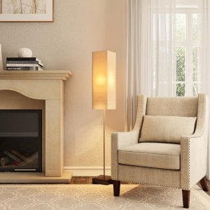 Alsy 60 in. Brushed Nickel Floor Lamp